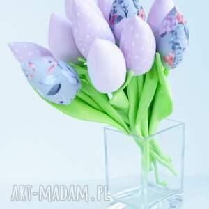 szare dekoracje kwiaty tulipany bawełniane dekoracja