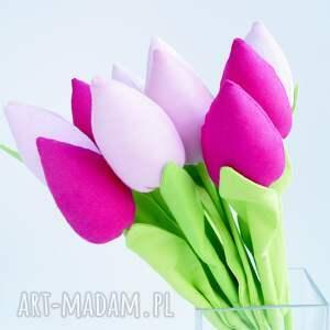 święta prezent wiosna tulipany bawełniane dekoracja