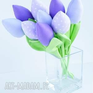 dekoracje wiosna tulipany bawełniane 9 szt