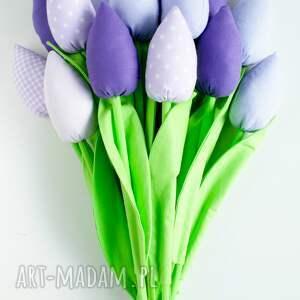 kwiaty dekoracje zielone tulipany bukiet 14 sztuk
