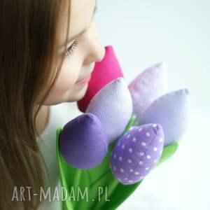 dekoracje kwiaty tulipany - bukiet 10 bawełnianych