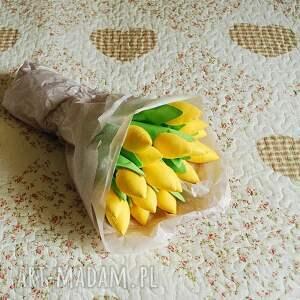 dekoracje kwiaty tulipany - bukiet bawełnianych