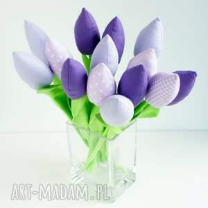 atrakcyjne dekoracje wazon tulipany bukiet 14 sztuk