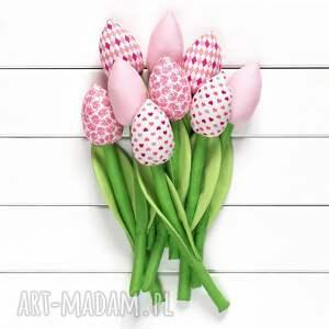 handmade dekoracje tulipany jasno różowy bawełniany