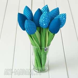 niebieskie dekoracje kwiaty bukiet bawełnianych, miękkich, nie więdnących