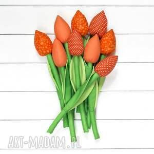 unikatowe dekoracje tulipany tulipany, pomarańczowy bawełniany