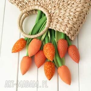 handmade dekoracje rocznica tulipany, pomarańczowy bawełniany