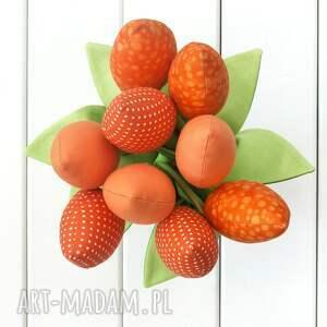 rocznica dekoracje tulipany, pomarańczowy bawełniany