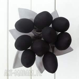 awangardowe dekoracje tulipany szaro czarny bawełniany