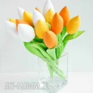 eleganckie dekoracje tulipany szyte bukiet kwiatów