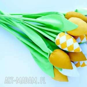 święta prezenty żółte tulipany 12 szt. wiosenna dekoracja