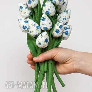 hand made dekoracje tulipany z materiału bukiet
