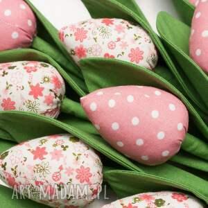 trendy dekoracje tulipany z materiału bukiet