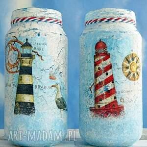 handmade dekoracje marinistyczny w oczekiwaniu na statek. Słoiczki