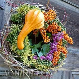 natura dekoracje wianek na drzwi