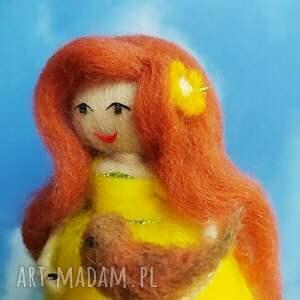hand made dekoracje lalka wiosenna dekoracja. Kwiatowa wróżka