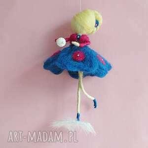 waldorf dekoracje niebieskie wróżka balerina tańcząca