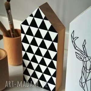 ręczne wykonanie dekoracje domki 3 x drewniane