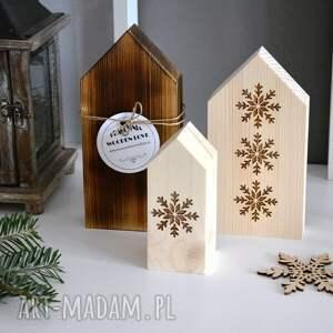 pomysł na prezent święta domek 3 x domki drewniane