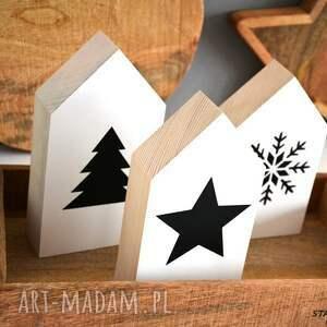 pomysł na świąteczne prezenty domek 3 x domki drewniane