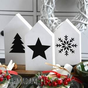 pomysł na świąteczne prezenty 3 x domki drewniane