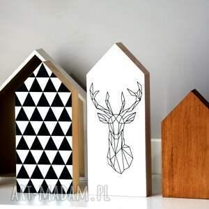 domek dekoracje 3 x domki drewniane