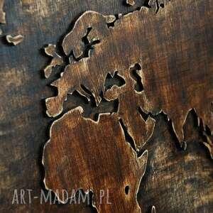 świata dekoracje 122 x 63 cm - drewniana mapa