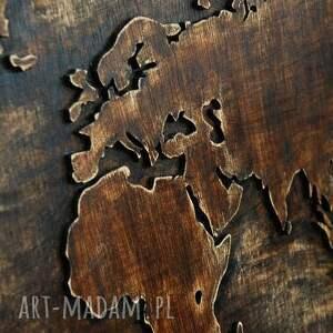dekoracje świata 79 x 41 cm - drewniana mapa