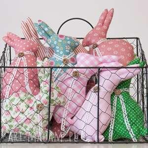 różowe dekoracje króliczek zajączek wielkanocny komplet