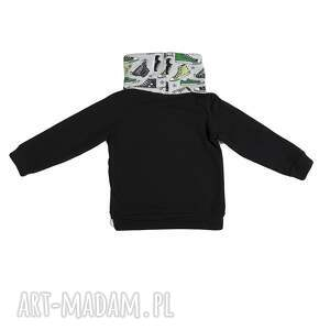 dla dziecka wygodna bluza dresowa czarna ze stójką