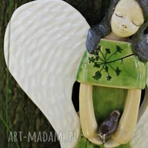 handmade dla dziecka anioł ceramiczny na ścianę