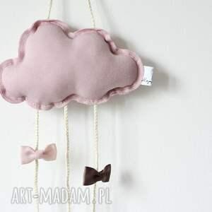 niepowtarzalne dla dziecka spinki chmurka clipo różowa organizer na