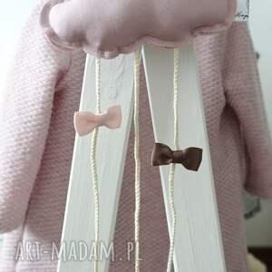 spinki dla dziecka chmurka clipo różowa organizer na