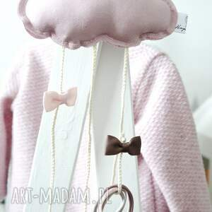 niepowtarzalne dla dziecka chmurka clipo różowa organizer na