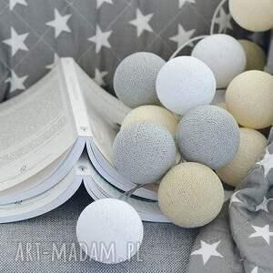 niepowtarzalne dla dziecka prezent cotton ball lights by pretty