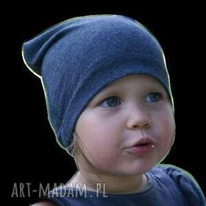 unikalne dla dziecka czapka bawełniana, granatowa,