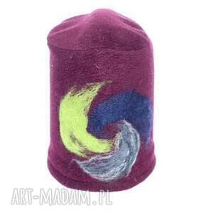 handmade dla dziecka czapka dziecięca z polaru filcowana