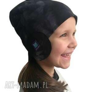 dla dziecka: czapka pilotka, wzór mazy - czapa