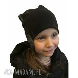 szare dla dziecka czapka pilotka, 2 rozmiary