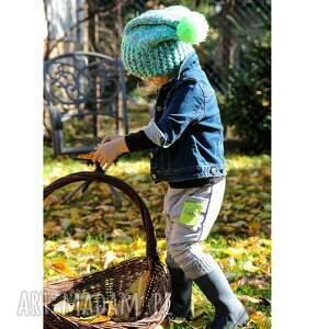 zielone dla dziecka dziecko czapunia kraa mode
