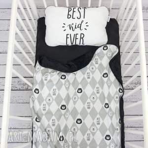ciekawe dla dziecka kocyk zestaw 75x100 płaska poduszka