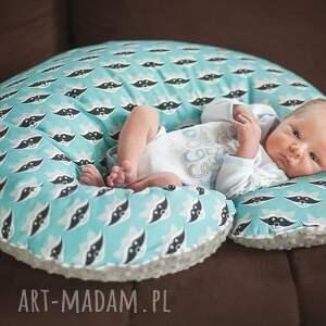 poduszka dla dziecka różowe duża do karmienia boho