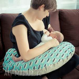 poducha dla dziecka żółte duża poduszka do karmienia
