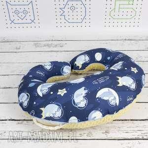 niebieskie dla dziecka gniazdo duża poduszka do karmienia -