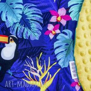 kolorowe dla dziecka minky duża poduszka do karmienia tukany