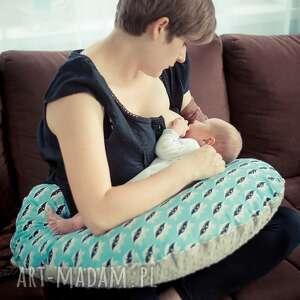 turkusowe dla dziecka poducha duża poduszka do karmienia