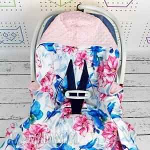 różowe dla dziecka fotelik duży kocyk do fotelika