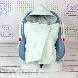 ręcznie zrobione dla dziecka podróż duży kocyk do fotelika