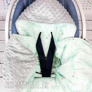 różowe dla dziecka samochodowy duży kocyk do fotelika