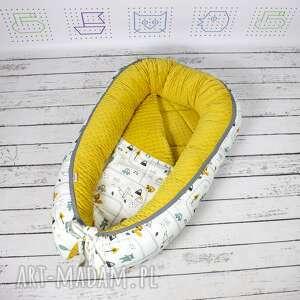 kokon dla dziecka żółte niemowlęcy otula maluszka i ogranicza
